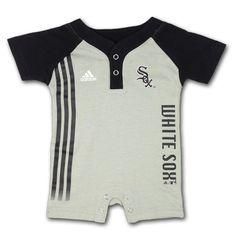 White Sox Infant Romper with Placket Collar  #whitesox #Chicago #baby #infant #romper #babyfans