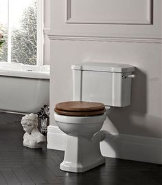 Find the perfect toilet for your bathroom from range of stylish toilet units. View all of our cheap toilets online and order for quick delivery. Traditional Bathroom Suites, Classic Bathroom Furniture, Close Coupled Toilets, Tavistock, Bathrooms, Period, Elegant, House, Haus