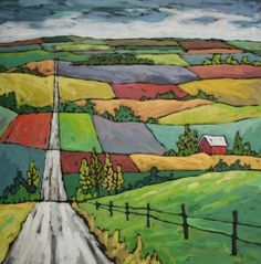 Perspective: Color, collage, and much more: Farmland landscapes using perspective