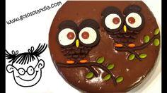 Búhos de chocolate en 1 minuto. Decora tartas facil.