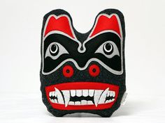 This decoration pillow is deeply inspired by creativeness of Haida People. Haida (or Hydah), are an indigenous people of the Pacific Northwest Coast of North America - mainly todays British Columbia. Its made of felt, and it represents Bear symbol. The bear symbolizes family and strength. It emanates with life force and magic. When I made it, I tried to maintain style of formline art. I think it can be a great addition to any modern home interior, or even a car interior. It can also make…