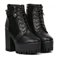Stylish Black and Platform Design Women's Boots, BLACK, 38 in Boots   DressLily.com