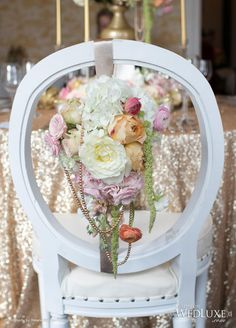 WedLuxe: chair in full bloom