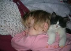 Ah the sweet old days.  I miss my kitten so.   **Click Pic To Read Full Article**   ---    #adorable #animals #aww #babies #cute #cutest #darling #lovable #baby #kitten #cat #pet #sleeping #kid #toddler #child