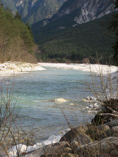 Torrente Resia Resiutta swam in this river, ice ice cold!
