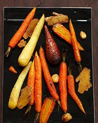 Thanksgiving carrot recipes include ginger-roasted carrots and red-miso-glazed carrots. Plus more Thanksgiving carrot recipes. Roasted Vegetable Recipes, Roasted Root Vegetables, Vegetable Dishes, Veggie Recipes, Wine Recipes, Vegetarian Recipes, Cooking Recipes, Root Veggies, Snacks Recipes