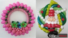Very nice balloon Christmas decoration - I agree. Lovely balloon wreaths. #Christmas #balloons #wreaths