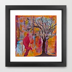 Finding My Way (The Path to Self Discovery/Actualization)  Framed Art Print by LadyJennD - $36.00