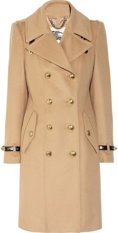 BURBERRY Leathertrimmed Wool and Cashmereblend Coat - Lyst  Only other time I ever saw taste like this on every street corner was in London. -J.L.S.