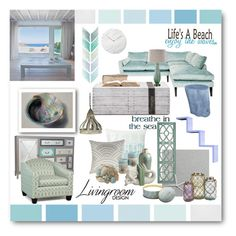 """Life's a Beach - Enjoy the Waves"" by rareworthy ❤ liked on Polyvore featuring interior, interiors, interior design, home, home decor, interior decorating, Graham & Brown, Pier 1 Imports, Menu and Fetco"