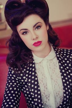 victory rolls / pin-up hair. Everything about this is perfect.