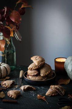 Maple Pumpkin + Carameled Walnut Hand Pies - The Kitchen McCabe (Autumn Baking Pumpkin Pies) Pumpkin Recipes, Pie Recipes, Dessert Recipes, Dessert Tray, Sugar Pumpkin, Pumpkin Puree, Empanadas, All You Need Is, Sweet Pie