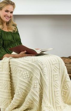 Square-Cut Diamond Throw Free Crochet Pattern from Red Heart Yarns