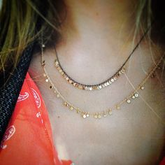 "Sia Taylor ""Dots"" necklaces"