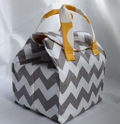 Custom Insulated Bento Box Carrier / Lunch Tote / by binskistudio, $32.00