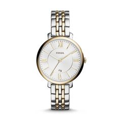 Fossil Jacqueline Three-Hand Date Stainless Steel Watch –Two-Tone| FOSSIL® Watches