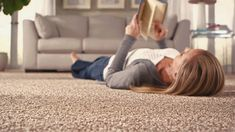 Mohawk's carpet products include stain-resistant Mohawk SmartStrand® Carpet (pictured) which is rated in customer satisfaction, easy to clean, durable and soft. Flooring Near Me, Best Flooring, Flooring Options, Carpet Tiles, Rugs On Carpet, Carpets, Vinyl Sheet Flooring, Carpet Remnants, Mohawk Carpet