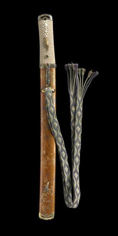 Tanaka Toshiyoshi, Mounting for a tanto with decoration of autumn grasses, mid 19th century