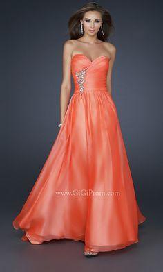 Strapless Designer Prom Dress by La Femme 17558