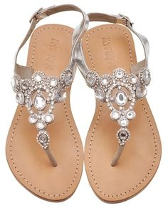 jeweled sandals - Click image to find more Women's Fashion Pinterest pins