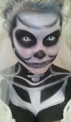 My halloween makeup 2011. Wicked with White Lenses from www.foureyez.com