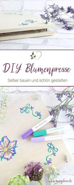 DIY Blumenpresse aus Holz selber bauen - Mary loves No Waste, Crafty, Green, Inspiration, Helfer, Urban Gardening, Press Flowers, Diy Gifts, Craft Tutorials