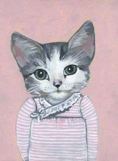 Very Cute!  A whole bunch of Cats in Clothes by Heather Mattoon.