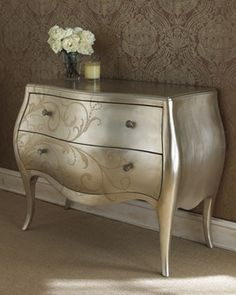 Silver-Leaf Chest - traditional - dressers chests and bedroom armoires - Horchow