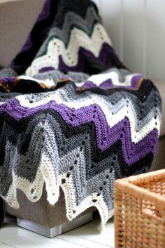 crochet blanket, love the colors