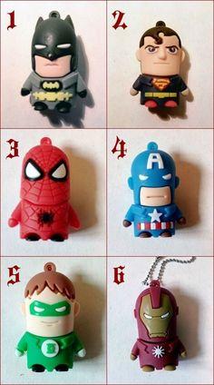 USB 8GB Hero Batman Ironman Capitan America Superman Spiderman Green Lantern