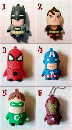 USB 8GB Hero Batman Ironman Capitan America Superman Spiderman Green Lantern