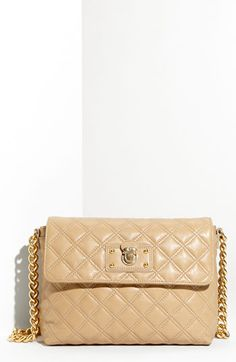 MARC JACOBS 'Quilting - Large Single' Lambskin Leather Shoulder Bag