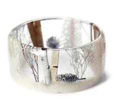 Magical Winter Forest Resin Bracelet