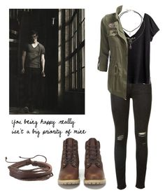 """""""Isaac Lahey - tw / teen wolf"""" by shadyannon ❤ liked on Polyvore featuring rag & bone, H&M, Topshop, Zodaca and Timberland"""