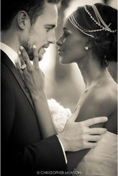 LOVE her accessories. This is such a beautiful picture! Love interracial couples too. Black Woman White Man, Black Love, Black And White, White Boys, White Women, Black Girls, Black Men, Interracial Couples, Interracial Wedding