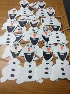 Olaf the snowman door decs from Frozen!