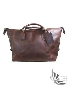 Barbour Leather Medium Travel Explorer Bag - Dark Brown UBA0008BR71 (B623)