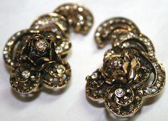 Vintage designer signed Hobé clip earrings earclimbers by lbjool, $22.00