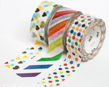 MT Washi Tape - Kid's - Stripe / Dotty / Heart