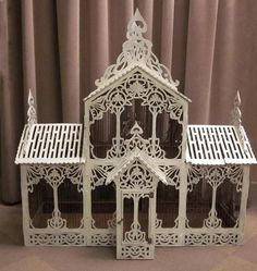 Antique bird cage | Antique french painted wood bird cage  Birdcage Ideas: More At FOSTERGINGER @ Pinterest.