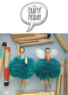 Crafty Friday - Pom Pom Fairies