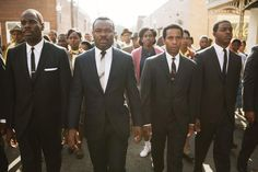 From left: Colman Domingo, David Oyelowo (as Martin Luther King, Jr.), Andre Holland and Stephan James in a scene from Selma. Walt Disney Pictures, Pearl Harbor, Martin Luther King, Andre Holland, Birdman, Protest Songs, Protest Poetry, Sils Maria, Black Actors
