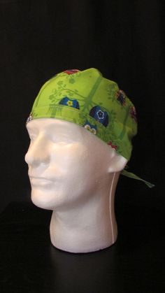 Multicolored Owl Tie Back Surgical Scrub Hat Cap by TipTopLids on Etsy