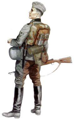 Kawaleria Wehrmachtu. Obergefreiter w mundurze polowym, wydzielony batalion rozpoznawczy, w Rosji, w roku 1941.