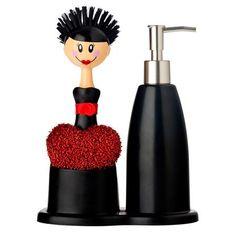 Set de dosificador de jabón y cepillo Dolls de Kitchen & Design