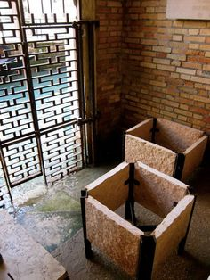 The Fondazione Quirini-Stampalia by Carlo #Scarpa illustrates creative ways to work within the constraints of a site and still create a beautiful design. The #Venice Canals became a part of the space flowing through the grated walls. Not only does this enhance the space, it serves a function as well by decreasing the erosion on the exterior of the building.