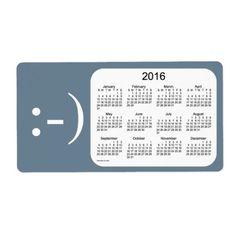 2016 Slate Gray Calendar by Janz Label Shipping Label