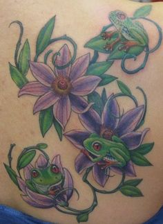 A family of frogs- tattoo