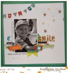 {By Gwen}Inspiration Création Blog: Smile - Une page avec le kit de décembre
