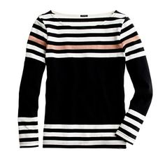 Sailor tee in engineered stripe - long-sleeve tees - Women's knits & tees - J.Crew